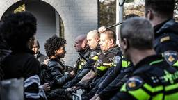 Met een foto van een protest  van Eritreeërs in Veldhoven, is Rob Engelaar genomineerd voor de Zilveren Camera. Foto: Rob Engelaar (ANP)