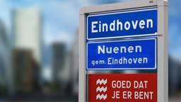 Het doembeeld voor een deel van Nuenen (beeldbewerking: Omroep Brabant).