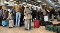 Drukte op Eindhoven Airport.