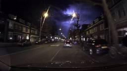 Opname met dashcam van de lichtflits. (Foto: Omroep Brabant)