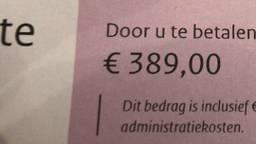 De bekeuring. (Foto: Facebook RFU Den Bosch)