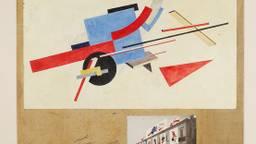 Ontwerp straatversieringen van Lissitzky