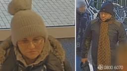 De politie is op zoek naar deze vrouw en man. Beeld: Bureau Brabant