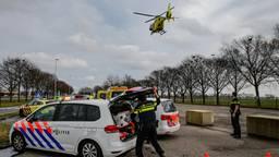 Er werd een traumahelikopter opgeroepen. (Foto: SQ Vision Mediaprodukties)