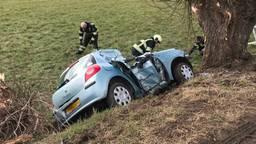 Het ongeluk zondag in Nuland. (Foto: Bart Meesters)