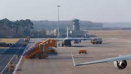 Het vliegtuig kon niet vertrekken vanwege rook in de vrachtruimte. (Foto: Sem van Rijssel/SQVision)