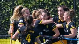 De dames van Den Bosch: al sinds novembr 2015 ongeslagen in de Hoofdklasse. (Foto: Orange Pictures)