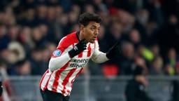 Donyell Malen maakte tegen FC Oss een hattrick voor Jong PSV. (Foto: VI Images)