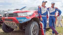 Van Loon en Rosegaar tijdens Dakar 2017 (foto: VI Images).