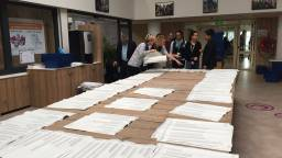 In Bergen op Zoom worden de stemmen herteld (Foto: Raymond Merkx)