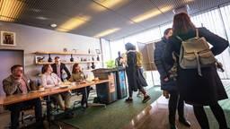 Een stembureau in Eindhoven. (Foto: ANP)