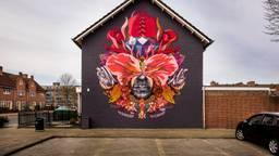 De voltooide muurschildering. (Foto: Edwin Wiekens)