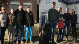 Links: familie Van der Put, rechts: familie Van den Broek. (Foto: Vincent TVproducties)