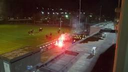Vuurwerk in stadion De Braak. (Foto: L1 Sport)