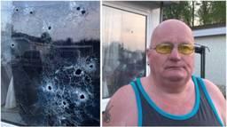 Bewoner Jan Dielessen: 'Het waren zeker 17 kogelgaten'. (Foto: Omroep Brabant).