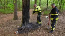 De brandweer bluste het vuur. (Foto: Toby de Kort)