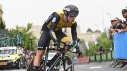 Danny van Poppel in actie bij de Giro d'Italia. FOTO: VI Images
