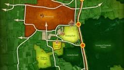 De uitbreidingsplannen van de Efteling op kaart. (foto: Efteling)