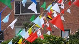 WK vlaggetjes in Zevenbergen