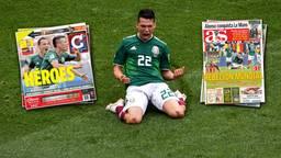 Hirving Lozano was voorpaginanieuws na zijn winnende goal tegen Duitsland. (Foto: VI Images)