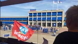 De vakbonden kiezen DAF wel vaker als doelwit van acties, zoals hier in 2015. (foto: Raoul Cartens)