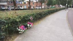 De plek waarop Van der Linde stierf, dinsdagmiddag