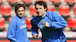 Cocu en Van Bommel toen ze nog samenspeelde bij PSV.