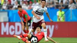 Hirving Lozano in actie tegen Zuid-Korea. (Foto: VI Images)
