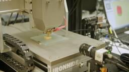 Een koekje wordt geprint bij TNO. Foto: Brabant 2050