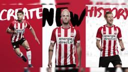 Het nieuwe shirt van PSV (foto: PSV/Umbro).