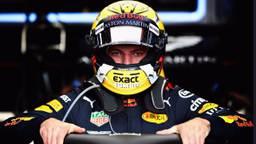 De special Jumbo-helm van Max Verstappen.