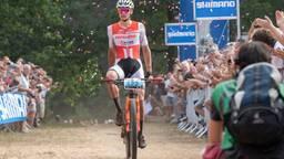 Mathieu van der Poel wint het NK Mountainbiken. Foto: OrangePictures.
