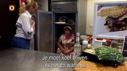 Betty in de koelstand (foto: Omroep Brabant).
