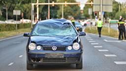 De auto is zwaar beschadigd (foto: Toby de Kort)