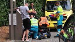 De man zat zeker een half uur vast. (Foto: FPMB Foto Persbureau Midden Brabant).