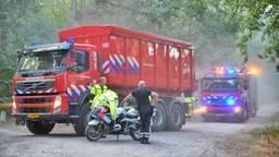 De brandweer aan het werk in Alphen Foto: Toby de Kort