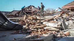 Lombok na de aardbeving. (Foto: ANP)