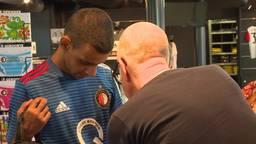 Ritchie werd oa. door Feyenoord in het zonnetje gezet. (Foto: RTV Rijnmond).