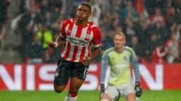 Steven Bergwijn zet PSV op voorsprong tegen BATE Borisov. (Foto: ANP)