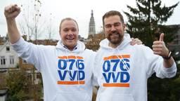 Thierry Aartsen met VVD-fractievoorzitter Klaas Dijkhoff.