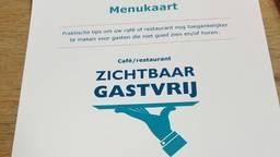 De 'menukaart' met tips voor de restaurants (foto: Josien Damkot)