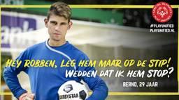 Bernd daagde Arjen Robben uit. (foto: Christijn Groeneveld)