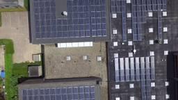 Dak van het Altena College in Sleeuwijk is één groot zonnepanelenpark