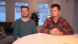 Wensouders Ton van de Camp (links) en zijn partner Nick Adriaanse.