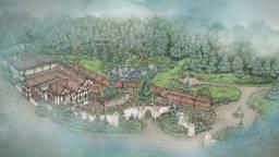 Een schets van de nieuwe attractie (Bron: Efteling).