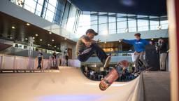 Skater in actie op het NK (foto: Kevin Cordewener).