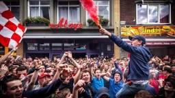 Voetbalsupporters en designliefhebbers verwacht in de Eindhovense binnenstad (archieffoto: Rob Engelaar)