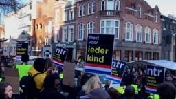 Demonstranten tegen Zwarte Piet.