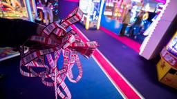 De bonnetjes waarmee prijzen worden gewonnen in de speelhal (foto: ANP)