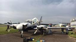 Het vliegtuigje waarmee de Albanezen naar Engeland wilden reizen. Foto: politie.